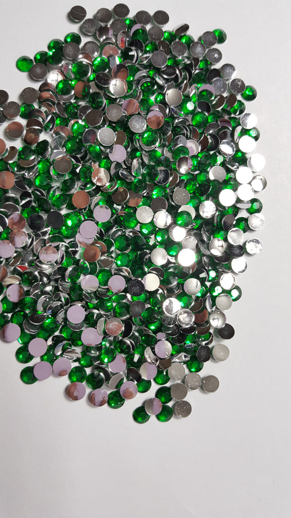 Sour Apple Green Rhinestones 2mm - 6mm You pick Size