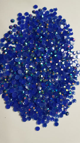 Blue Ab Rhinestones - Jellies 3mm - 5mm You pick Size