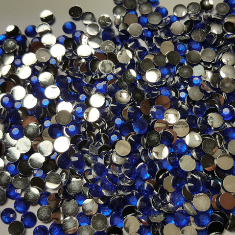 Blue Rhinestones 3mm - 5mm You pick Size