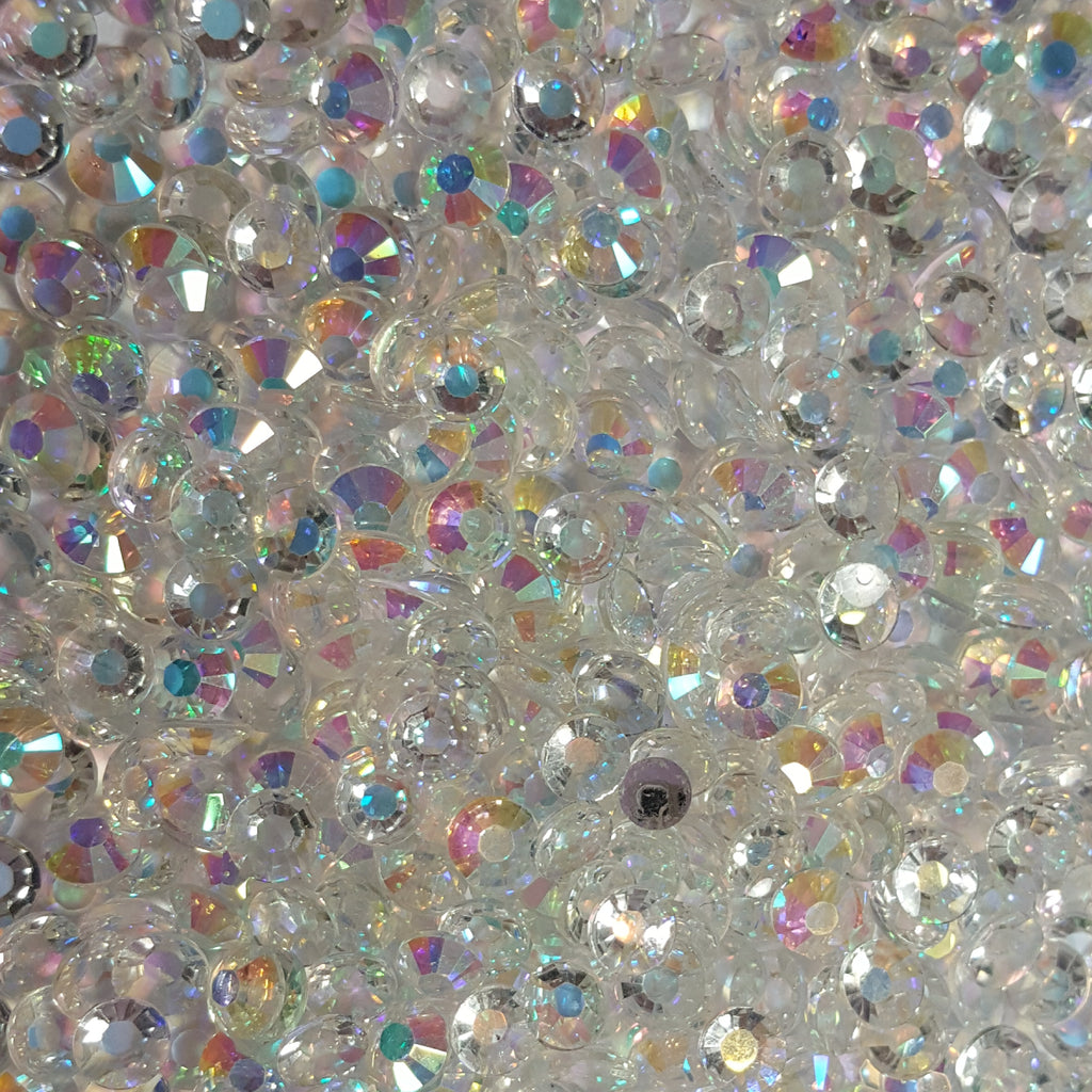 Transparent ab Rhinestones 2mm-6mm you select size
