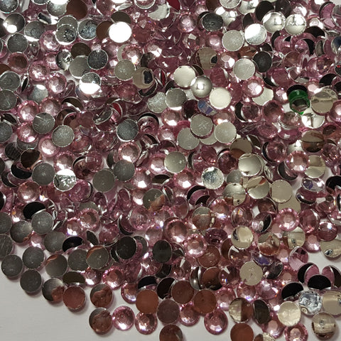 Baby Pink Rhinestones 3mm - 5mm You pick Size