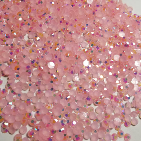 Pink Ab Rhinestones  - Jellies 2mm - 6mm You pick Size