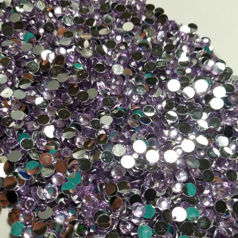 Lilac Rhinestones 2mm - 6mm You pick Size