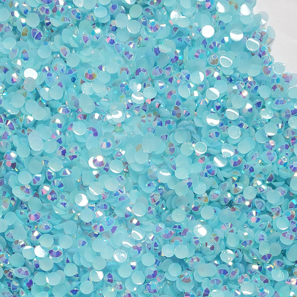 Light Blue Ab Rhinestones - Jellies 2mm - 6mm You pick Size