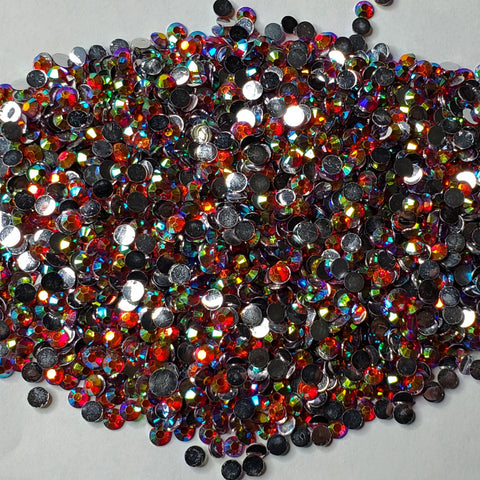 Cranberry Twist Rhinestones  -  2mm - 6mm You pick Size