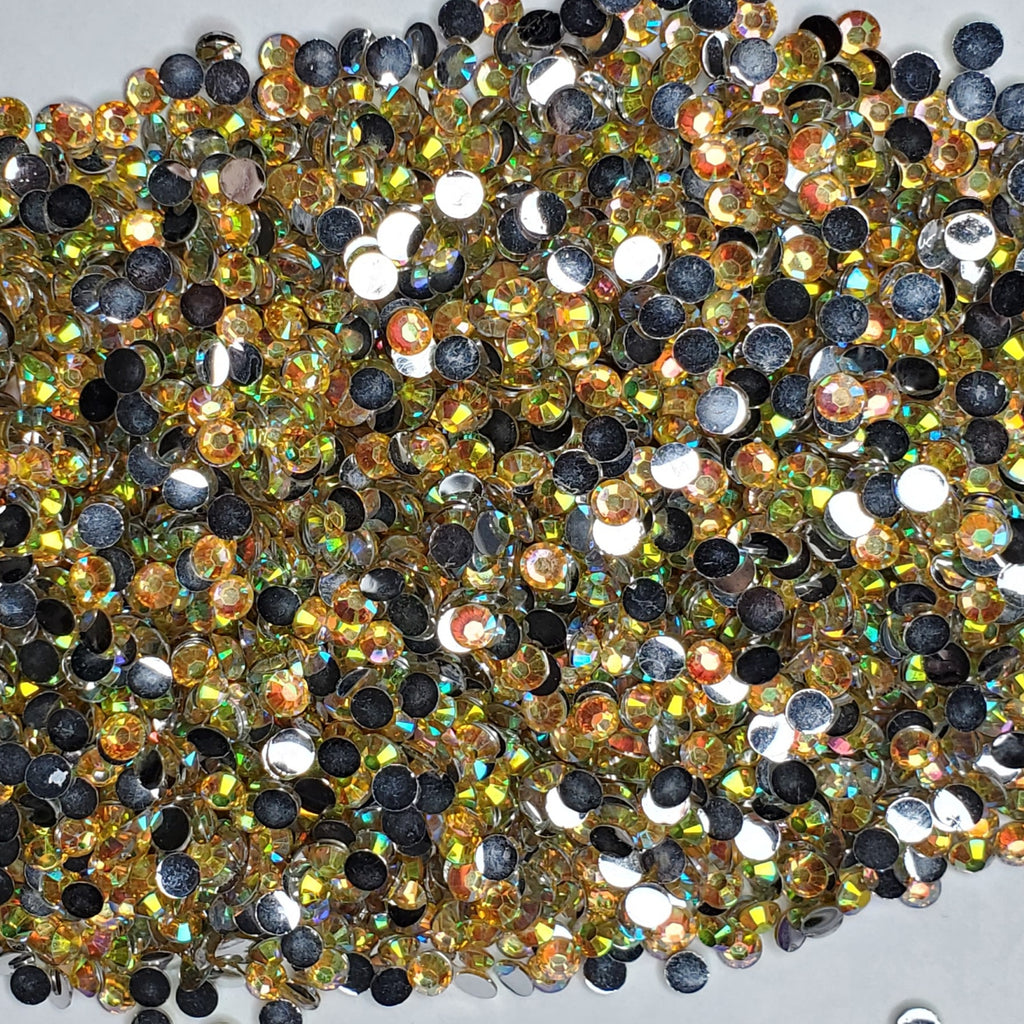 Lemonade Rhinestones  -  2mm - 6mm You pick Size