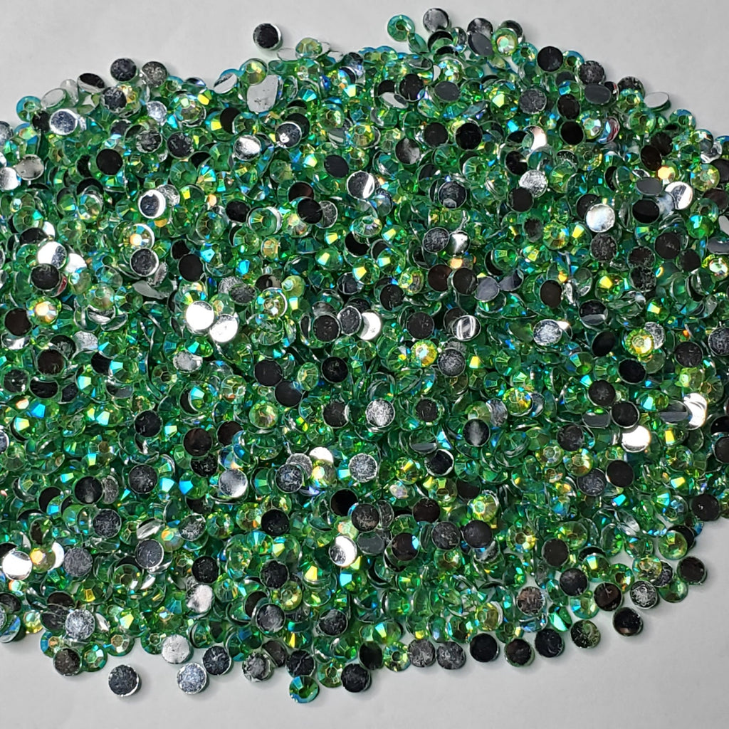 Appletini Rhinestones  -  2mm - 6mm You pick Size