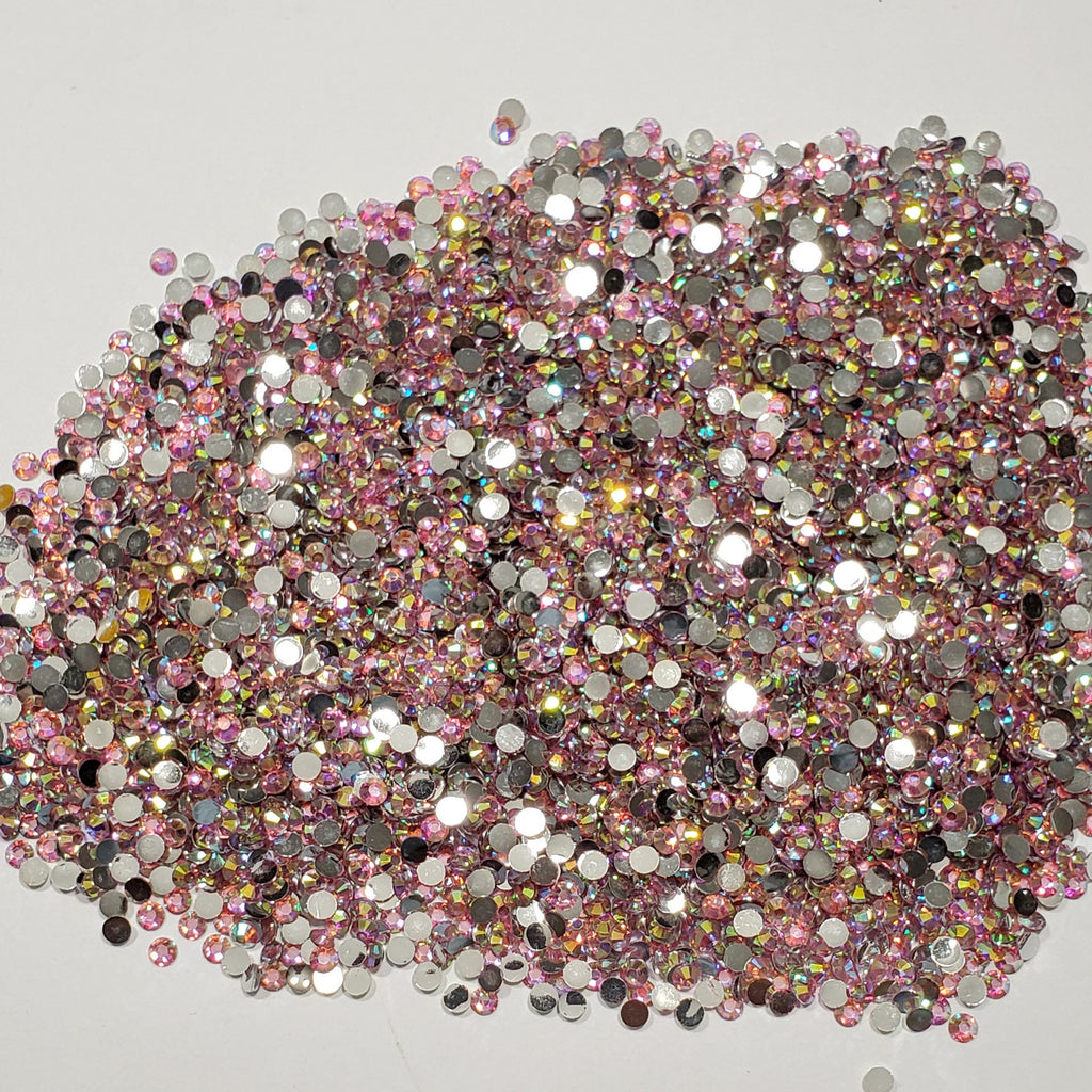 Pink Champagne  Rhinestones  -  2mm - 6mm You pick Size