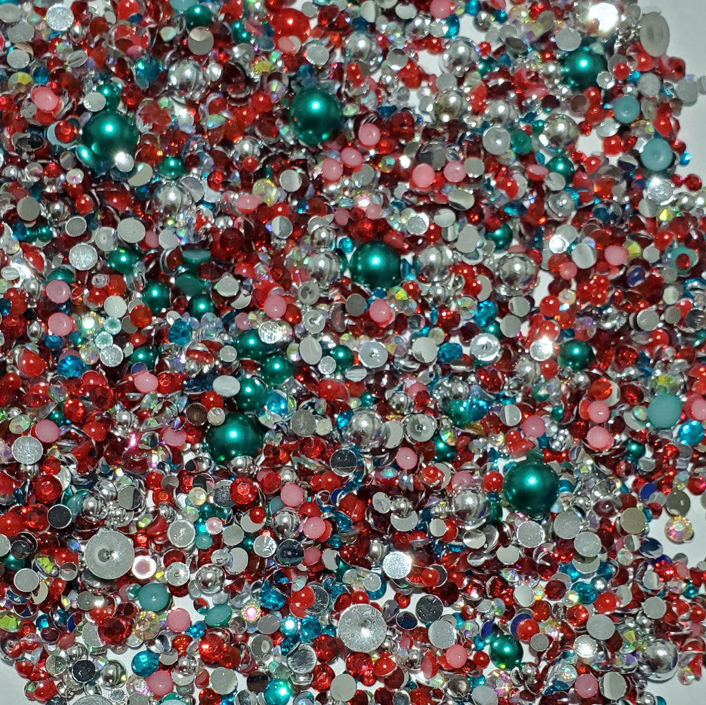 Bling mix - Mermaid Tails Red