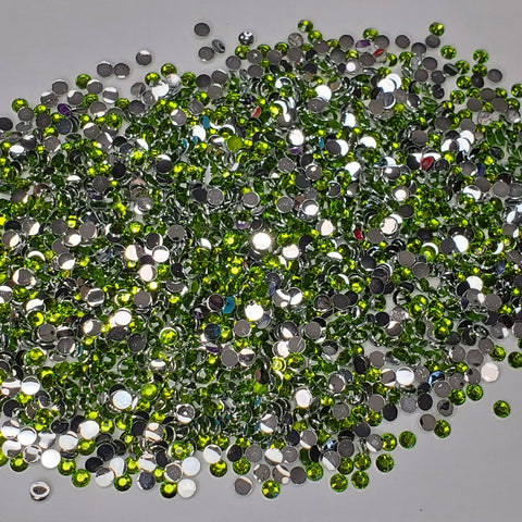 Olive Green  Rhinestones 2mm - 6mm You pick Size