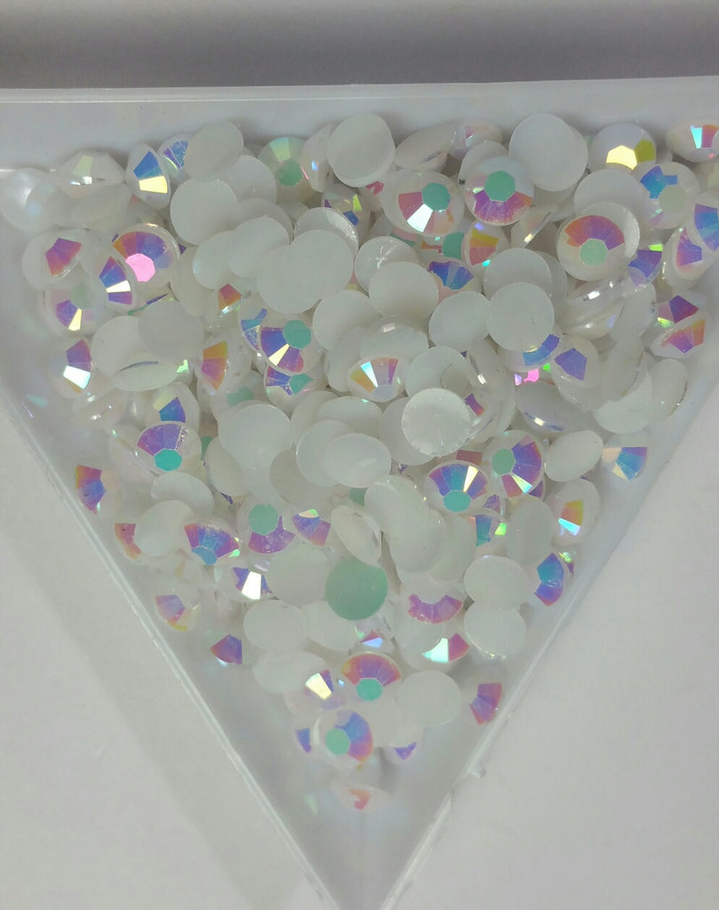 White ab Rhinestones 2mm - 6mm you pick size