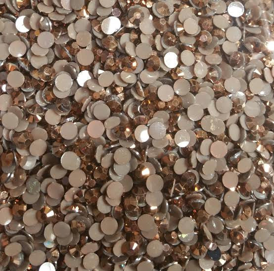 Brown Ab Rhinestones 2mm - 6mm You pick Size