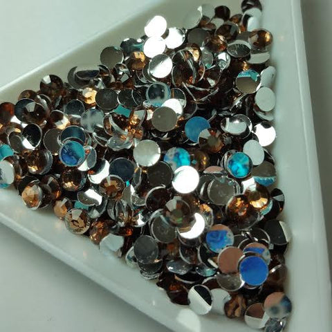 Brown Rhinestones 3mm - 5mm You pick Size