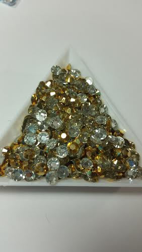Gold Rhinestones 2mm - 5mm You pick Size