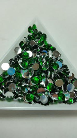 Green Rhinestones 2mm - 6mm You pick Size