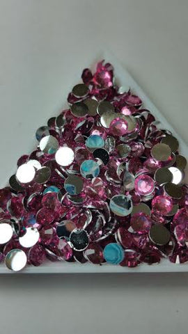 Pink Rhinestones 2mm - 6mm You pick Size