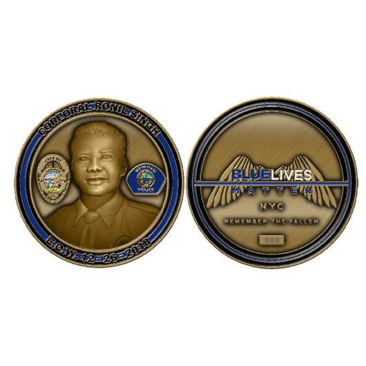 Corporal Ronil Singh Memorial Challenge Coin