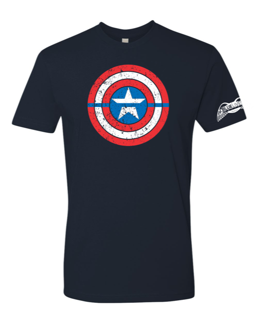 Captain America BLUE Line Tee