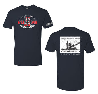 9/11 PD-FD Memorial T-Shirt
