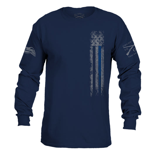 GRUNT STYLE/ BLUE LIVES Long Sleeve Blue Line Shirts