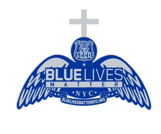 BLUE LIVES Pin with Cross