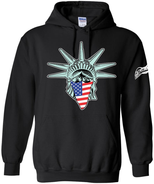 Lady Liberty American Green Hoodie