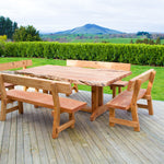 Slab Table with 4 benches - FourLeaf  - 1