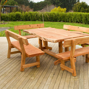 Slab Table with 4 benches - FourLeaf  - 2