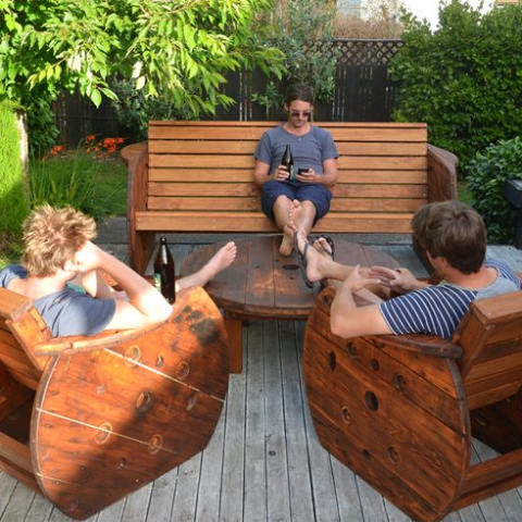 Up-cycled Outdoor Lounge Suite. - FourLeaf  - 1
