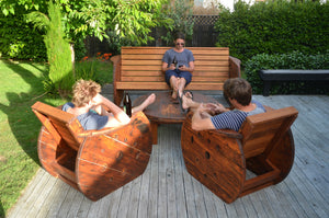 Up-cycled Outdoor Lounge Suite. - FourLeaf  - 5