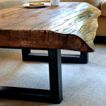 Rimu slab coffee table - FourLeaf  - 1