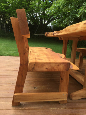 Macrocarpa slab table with backs - FourLeaf  - 6