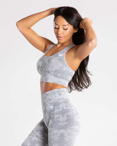 Camo Seamless Sports Bra | Grey