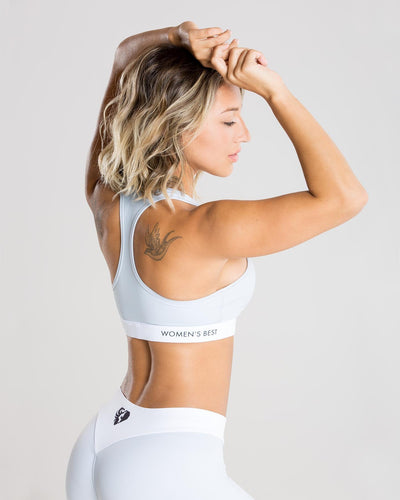Exclusive Sports Bra | Grey/White