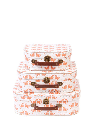 Set of 3 Suitcases - Fox