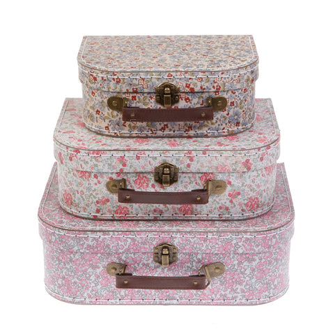 Set of 3 Suitcases - Vintage Flowers
