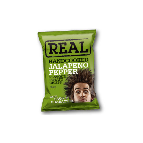 REAL CRISPS JALAPENO PEPPER 35 G. - PEPERONCINO PICCANTE