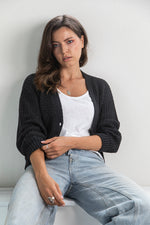 Atlantic Cardi - Charcoal **Restock end of May