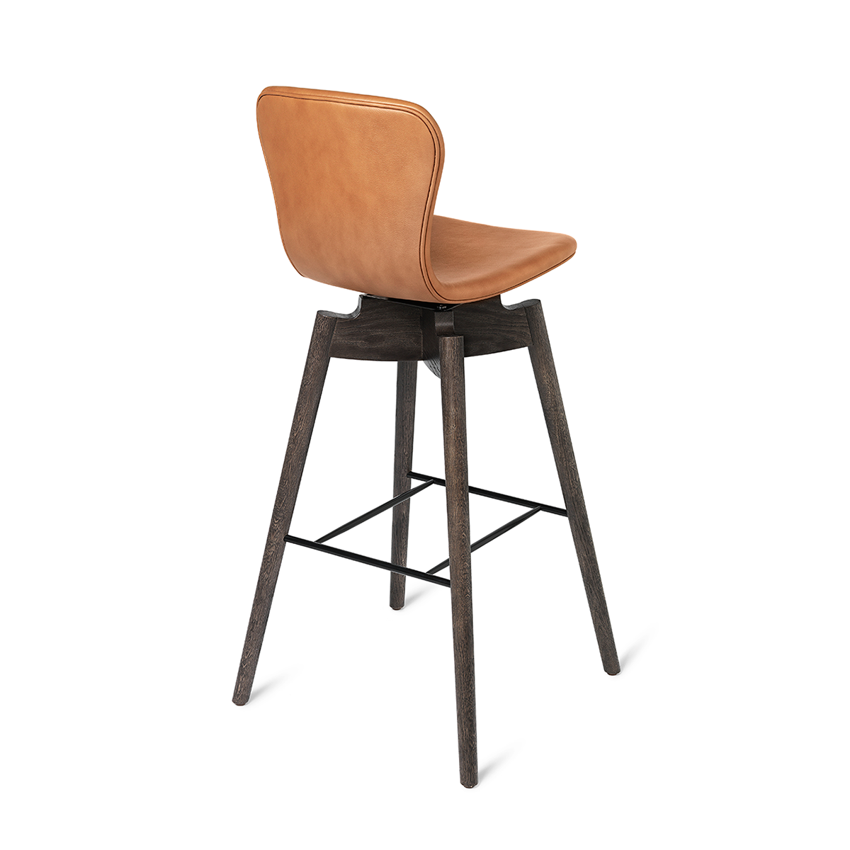 Mater Shell Bar Stool Wooden Leather Bar Stool in Oak 貝殼系列 橡木 高腳椅