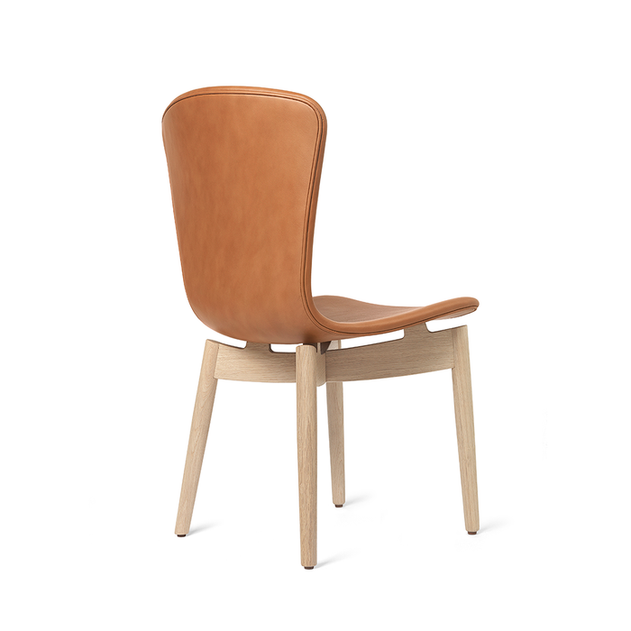 Mater Shell Wooden Dining Chair Leather in Oak 貝殼系列 橡木 無扶手餐椅