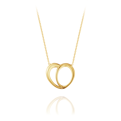 Georg Jensen Jewellery Offspring Heart Pendant 1635 Gold 喬治傑生 雙戀愛情 18K金 金色項鍊