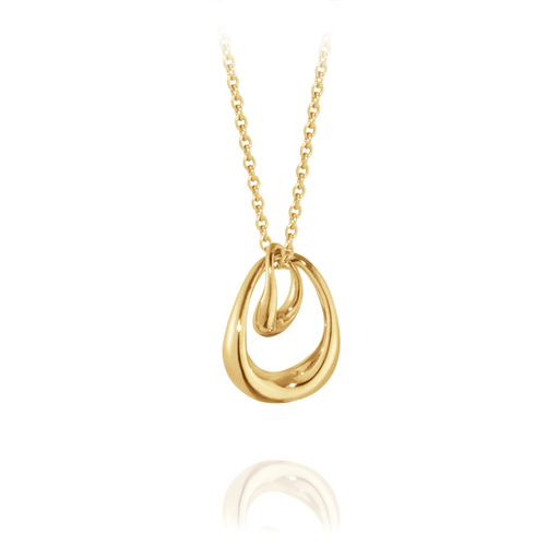 Georg Jensen Jewellery Offspring Pendant 喬治傑生 雙環春心 18K 黃金 項鍊