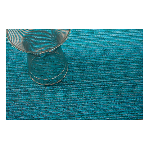 Chilewich Skinny Stripe Floor Mat Turquoise Color 細條紋 腳踏墊 / 地墊系列 湖水藍