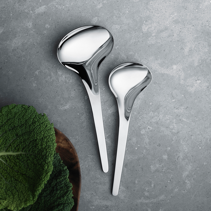 Georg Jensen Bloom Serving Spoon Mirror 2pcs 喬治傑生 時尚花語 公匙 兩件組