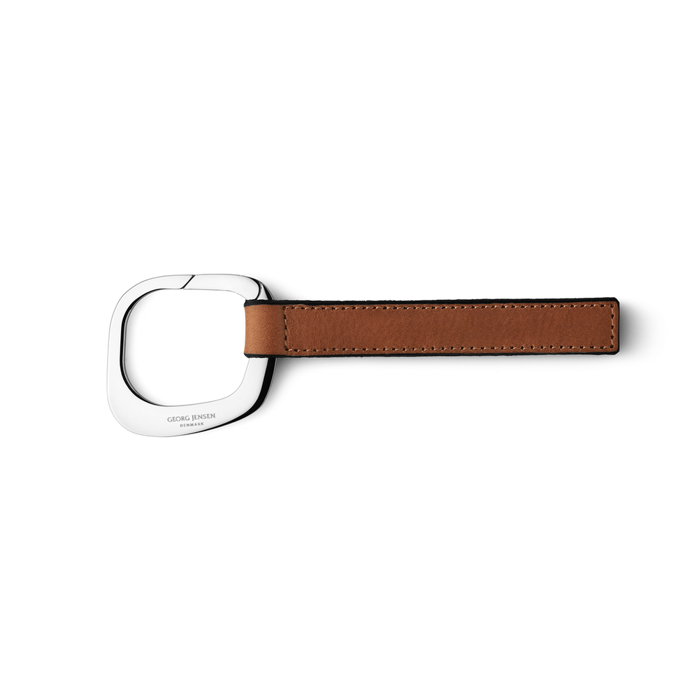 Georg Jensen Square Leather Keyring 喬治傑生 方形 皮繩鑰匙圈