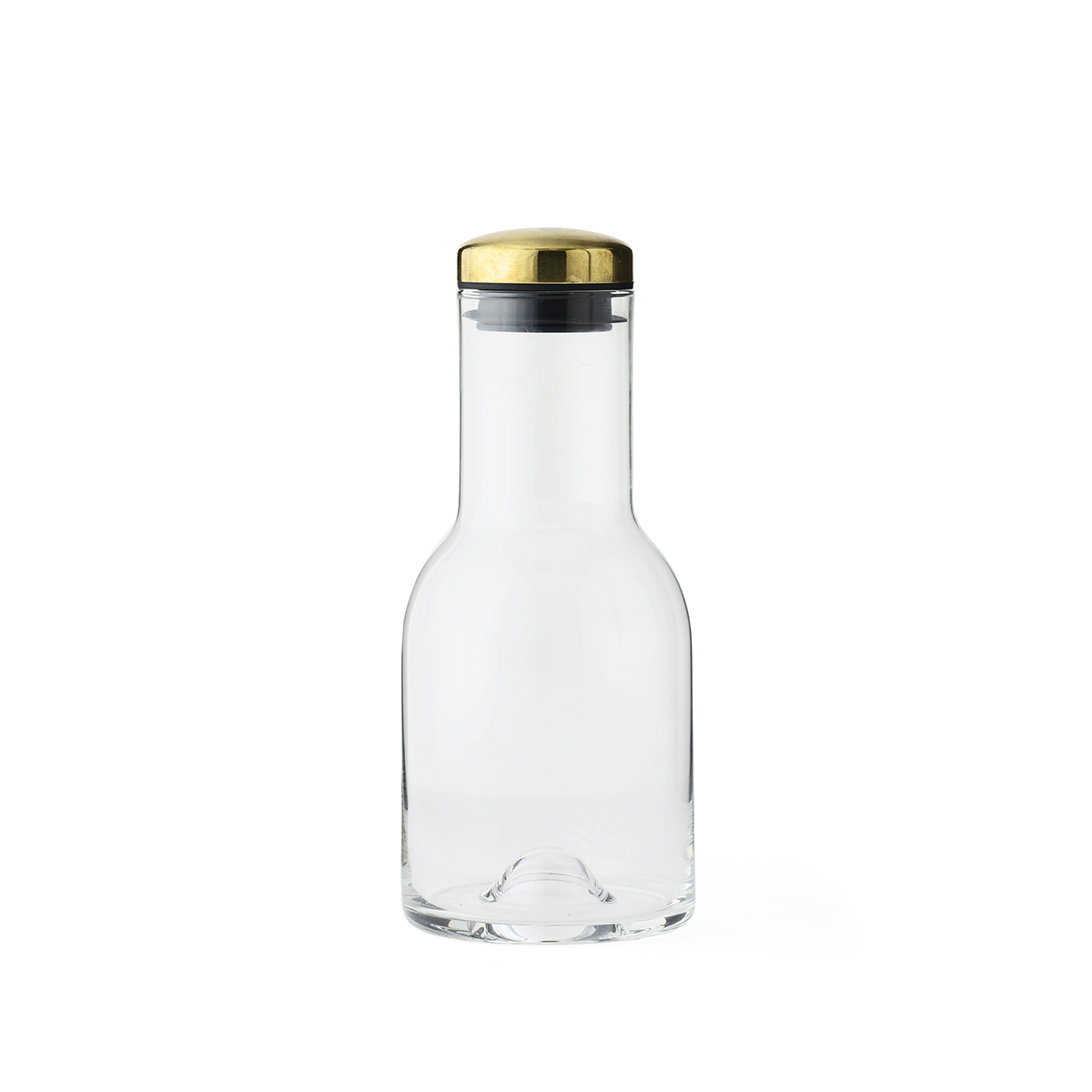 Menu Water Bottle with Brass Lid 0.5L 黃銅 玻璃水瓶 小尺寸