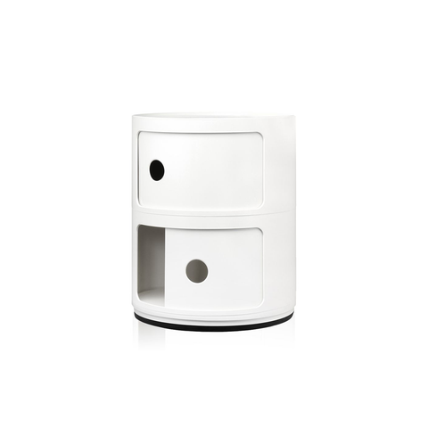 Kartell Componibili Round Storage System 32cm in 2 rooms 經典圓形 雙層 收納櫃 - 基本色系列
