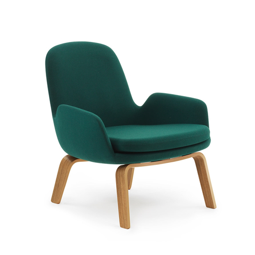Normann Copenhagen Era Low Lounge Chair with Fame 年代 低背 木質休閒椅 羊毛紡織包覆版
