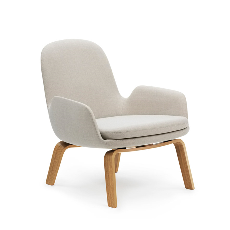 Normann Copenhagen Era Low Lounge Chair with Breeze Fusion 年代 低背 木質休閒椅 羊毛紡織包覆版