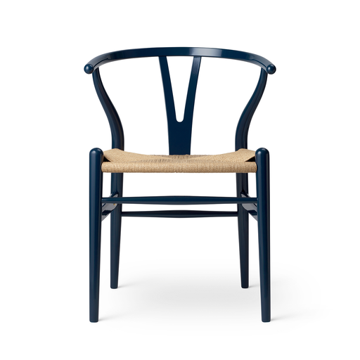 【2020 年度限定 生日紀念款】Carl Hansen & Son CH 24 Y-chair Navy Blue Glossy Lacquer Birthday Limited Edition Y 字椅 海軍藍 漆裝 生日限定款(鑲嵌黃銅紀念牌)